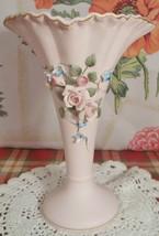 """Vintage lefton pink roses vase 6 1/2""""h x 4 1/2""""w - $16.99"""