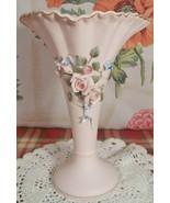 """Vintage lefton pink roses vase 6 1/2""""h x 4 1/2""""w - $22.67 CAD"""