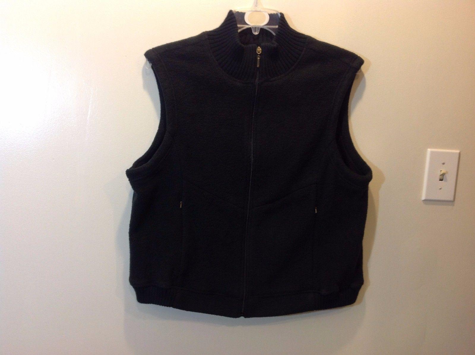 Ladies Catalina Black Soft Warm Fleecey Zip Up Vest Sz XL 16 18