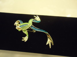 Gerry's Brooch Pin Colorful Enameled Frog Signed - $9.00