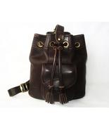 Dooney and bourke handbag purse bucket bag brown leather vintage thumbtall