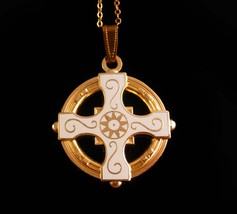 Vintage Celtic Cross - religious necklace - Celtic wedding - irish neckl... - $65.00