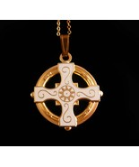 Vintage Celtic Cross - religious necklace - Celtic wedding - irish neckl... - $65.00