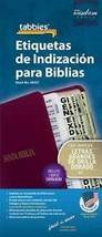Large Print Spanish Bible Indexing Tabs: Bible Indexing Tabs With Booklet - $7.98