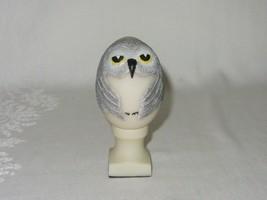 Hand Painted Bird Egg Shaped Owl Figurine Vtg EGGCENTRICS by Bristar - $24.74