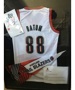 Nicolas Batum Framed Signed Jersey and Pendent  - $150.00