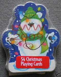 1 Christmas Polar Bear playing card deck NEW ~ Bonanza