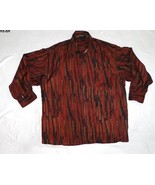 Riscatto Seta Size XL Mens 100% Burgundy Silk Shirt - $15.99