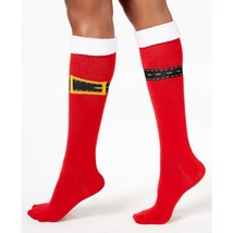 Charter Club women's Santa Buckle Up Knee High Socks Red OS - $5.87