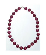 Vintage Red Gumball Necklace 15mm beads - $24.00