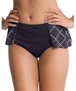 Spanx Black & White Geo Print Flirty Skirted Swim Bottom Sz 10 NWT MSRP $78 - $27.72