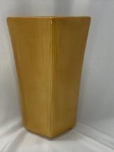 "Pottery Barn Modern Peach Orange Tapered Rectangle Ceramic Vase 9.75"" tall - $19.99"