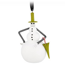 Disney Parks Nightmare Before Christmas Snowman Jack Skellington Ornament New - $26.42