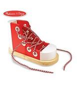 Melissa & Doug Deluxe Wood Lacing Sneaker (Learn to Tie a Shoe Education... - $12.07