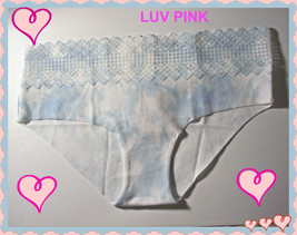 M Blue Tie Dye PINK Cotton NO SHOW Victorias Secret Hipster Hiphugger Pa... - $10.99