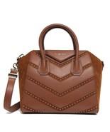New $2775 Givenchy Antigona Studded Small Calf Chevron Leather Suede Bag - $1,566.04
