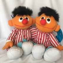 Two (2) Talking Sleepy Time Snoring Ernie Tyco Plush Doll Bedtime Sesame... - $39.59