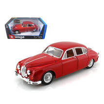 1959 Jaguar Mark II Red 1/18 Diecast Car Model by Bburago 12009r - $48.74