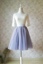 Gray Wedding Knee Length A-line Tulle Skirt Ballerina Skirt Bridesmaid Skirt NWT image 2