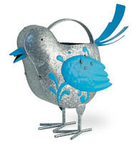Metal Blue Bird  Garden /Patio/Pool Watering Can 12'' x 12''H - $39.60