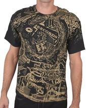 Wrecords By Monkey Brooklyn Schwarz Gold Display Aufdruck LP T-Shirt Grafik Hemd