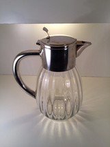 Vintage Eisenberg Lozano German Crystal and Silver Plate Pitcher  - $42.03