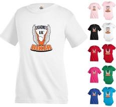 Grandmas Lil Biker eagl Funny Kids T shirt Youth tee Baby Toddler bodysu... - $13.99