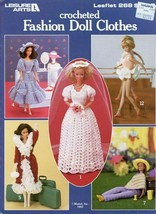 Crocheted Fashion Doll Clothes Bride 12 Outfits for Barbie PATTERN LEAFLET - $4.47