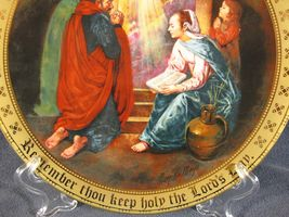 Keep Holy The Lords Day Collector Plate Ten Commandments Mary Mayo Danbury Mint image 3