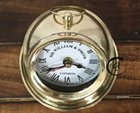 Christmas SHINY BRASS DESK FURNITURE ORNAMENT NAUTICAL CLOCKS MANTEL/TABLE OF