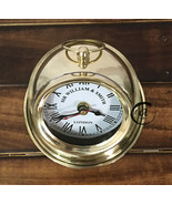 Christmas SHINY BRASS DESK FURNITURE ORNAMENT NAUTICAL CLOCKS MANTEL/TAB... - $26.18