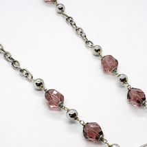Necklace Silver 925, Heart Perforated Pendant, Bunch Nugget Purple image 4