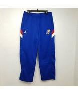 Adidas Kansas Jayhawks Mens Sweatpants Joggers 54 L Large Blue Team Issu... - $35.49