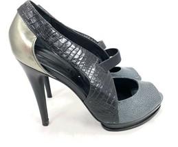 BCBG PL Tallie womens heels shoes wedges 9.5 B EUC Neutral Beige Snake 2... - $24.00