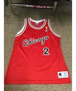 Norm Van Lier Chicago Bulls Red Champion Jersey 50th Anniversary Gold Lo... - $197.99