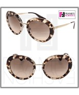 PRADA CINEMA Round PR16QS Spotted Opal Brown Gradient Sunglasses 16Q Aut... - $209.39