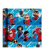 Incredibles 2 Blue THEME GIFT WRAPPING PAPER 20 sq ft.(1 Roll) - $20.77
