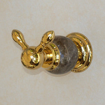 Gold clour bathroom brass Marble clothes hook robe hook  - $35.63
