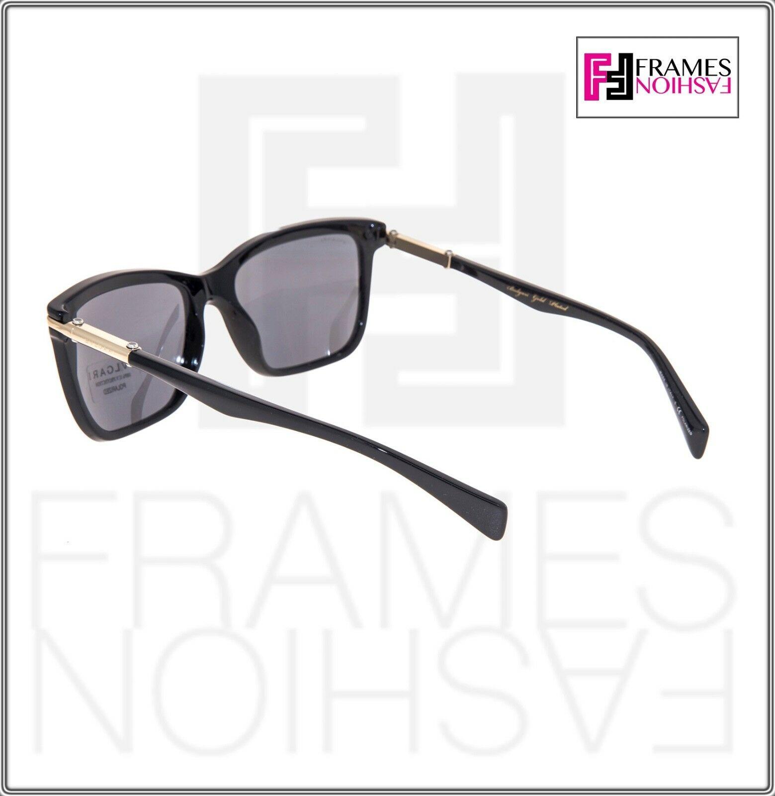 BVLGARI Le Gemme Men BV7028K Black Gold 18K Plated POLARIZED Sunglasses 7028 image 3
