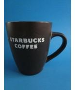 2010  Starbucks Brown Mug 12 Oz Ceramic White Letters Coffee Cup Mug - $11.95