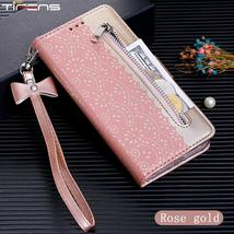 Flip Wallet Zipper Case For Xiaomi A3 Redmi K20 Pro 7A Note 8 9 7 Luxury Lace Le - $7.49+