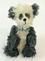 "Vintage Mohair Panda Bear Plush Black White 1977 Handmade Signed Donna  8"" - $148.49"