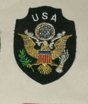 U.S.A. United States Eagle Embroidered Sewn World Travel Patch - $9.18