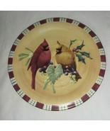 Cardinal Lenox Winter Greetings Everyday Salad Plate New Birds Catherine... - $14.99