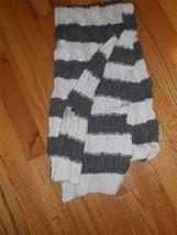 "UGG Australia Large Cable Stitch Scarf 80"",Grey Stripe - $61.07"