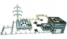 4Ground 10mm Scale Standard Terrain: Urban Power Plant Painted Unassembled