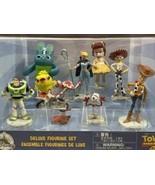 Disney Pixar Toy Story 4 Deluxe Figurine Playset 9 Figure Set Woody Buzz... - $23.52