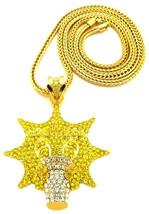 Gang Necklace New Glo Crystal Rhinestone Pendant 36 Inch Franco Chain Glory Gang - $35.25