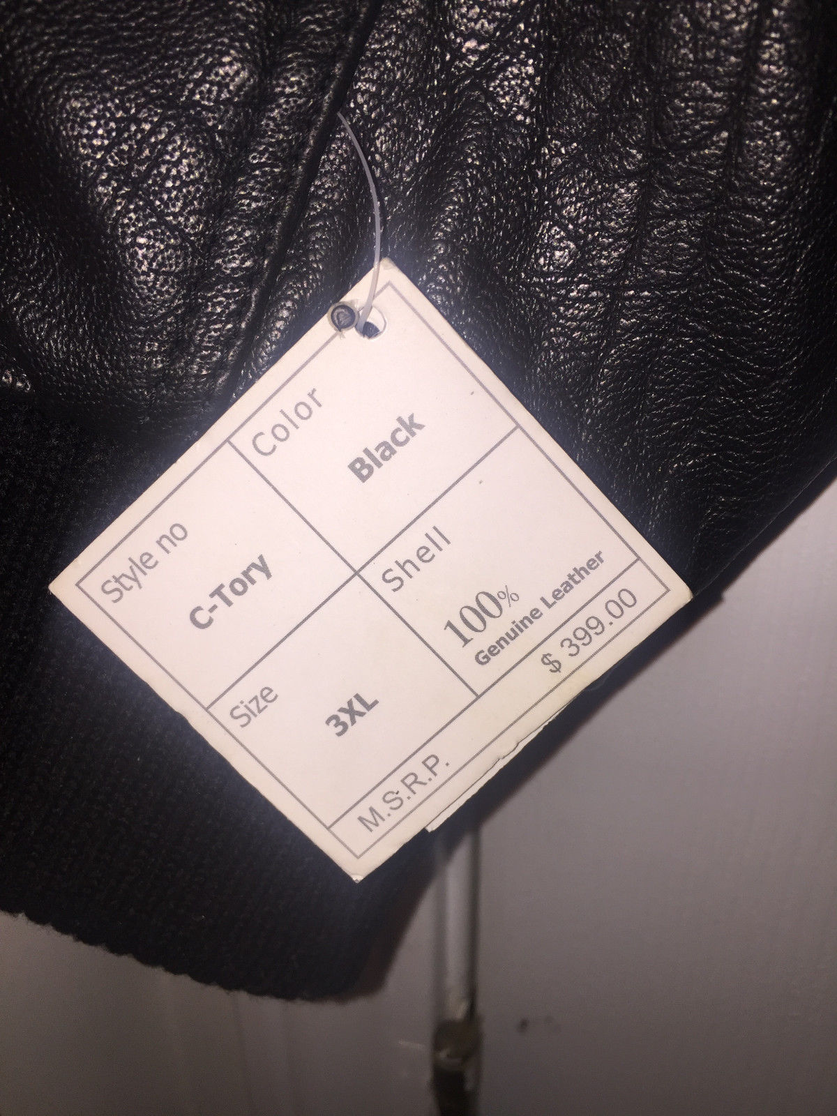 TANNERS AVENUE DISTRESSED LEATHER BASEBALL BOMBER JACKET SIZE 3XL - NWT