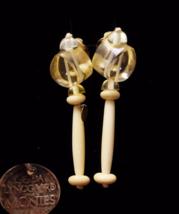 gerda lynggaard monies earrings / vintage signed estate jewelry / chandelier  - $325.00